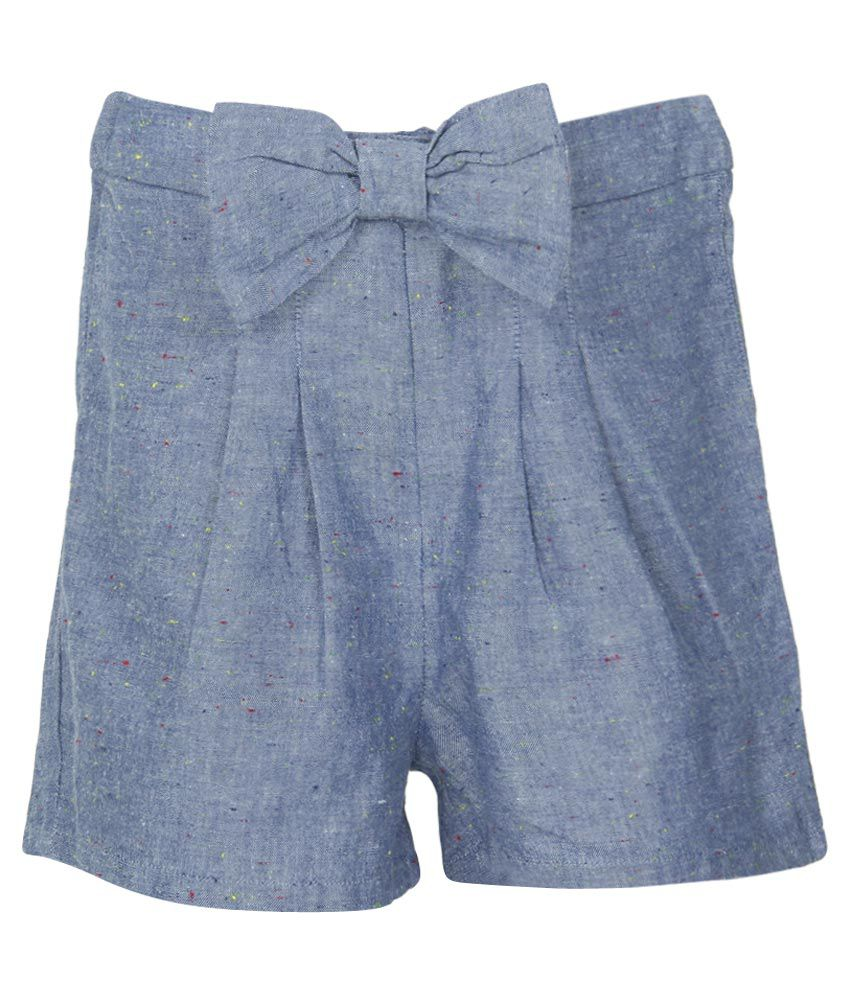 French Connection Kids Blue Regular Fit Shorts