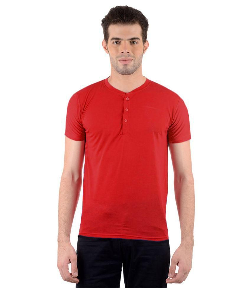 Gallop Red Henley T Shirt