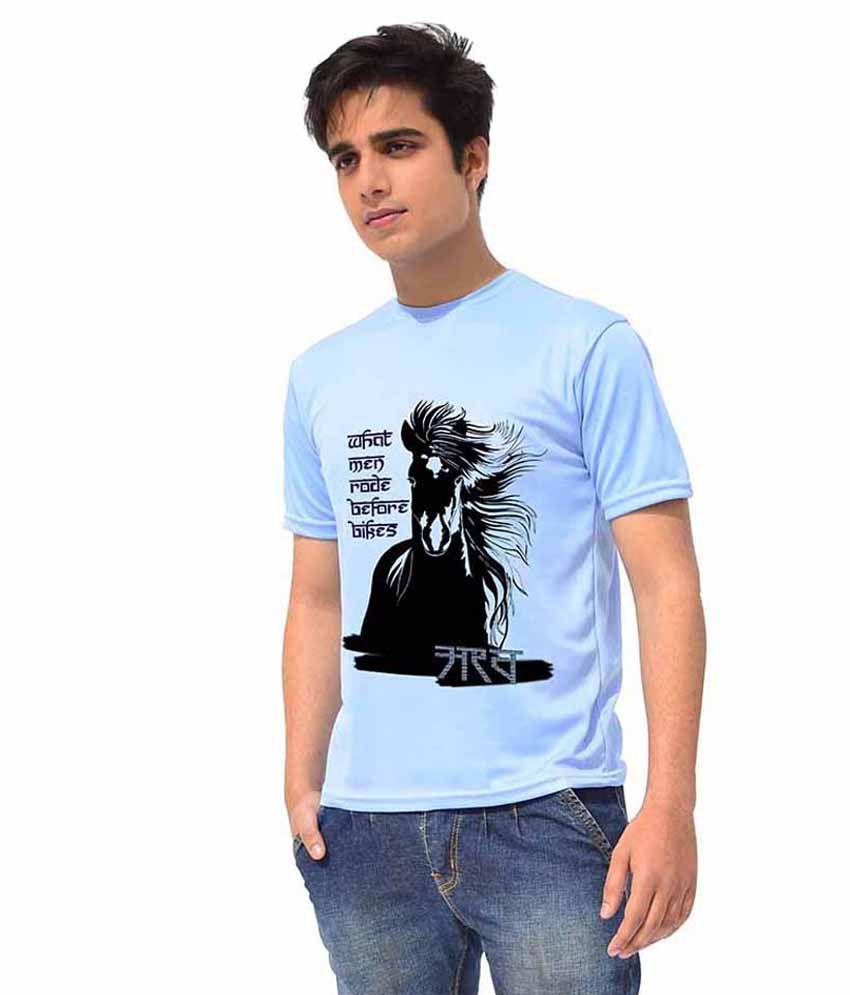 Iride Blue Round T Shirt