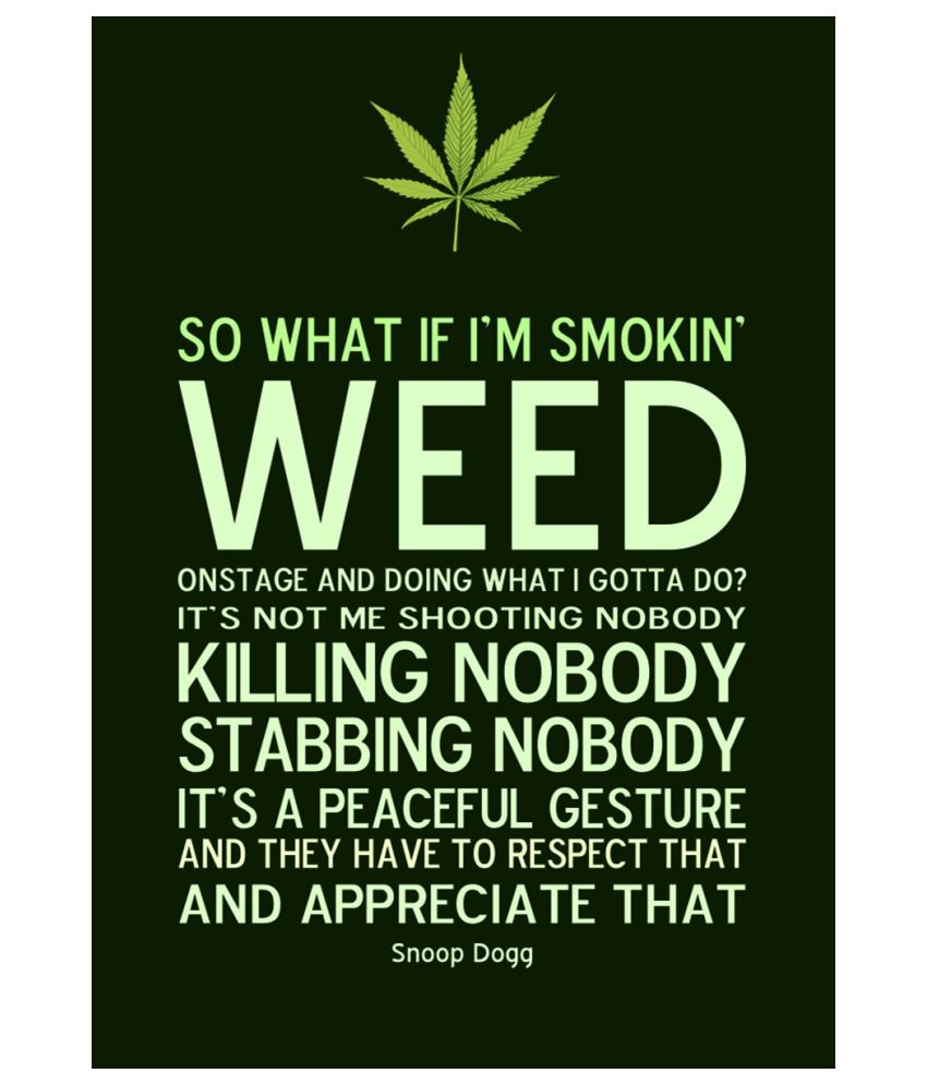 Ulta Anda Snoop Dogg So What If I m Smoking Weed Quote