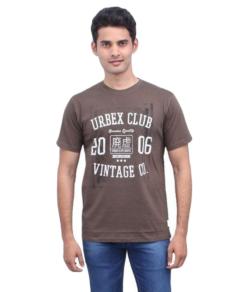 Urbantouch Brown Round T Shirt
