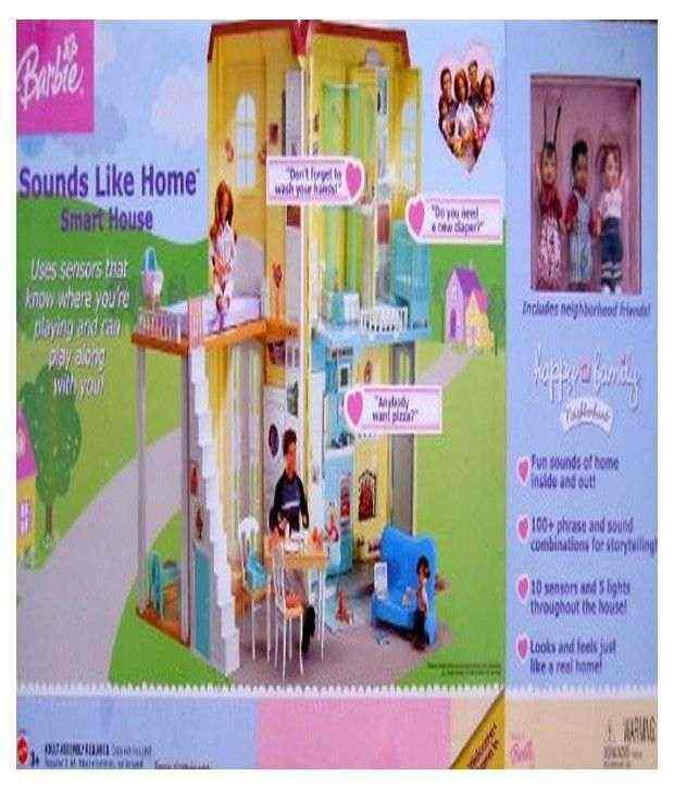 Barbie Happy Family Sounds Like Home Smart House Playset W Lights Amp Sounds 2004 Buy Barbie