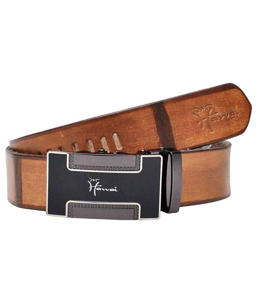 Hawai Brown Formal Belt For Men