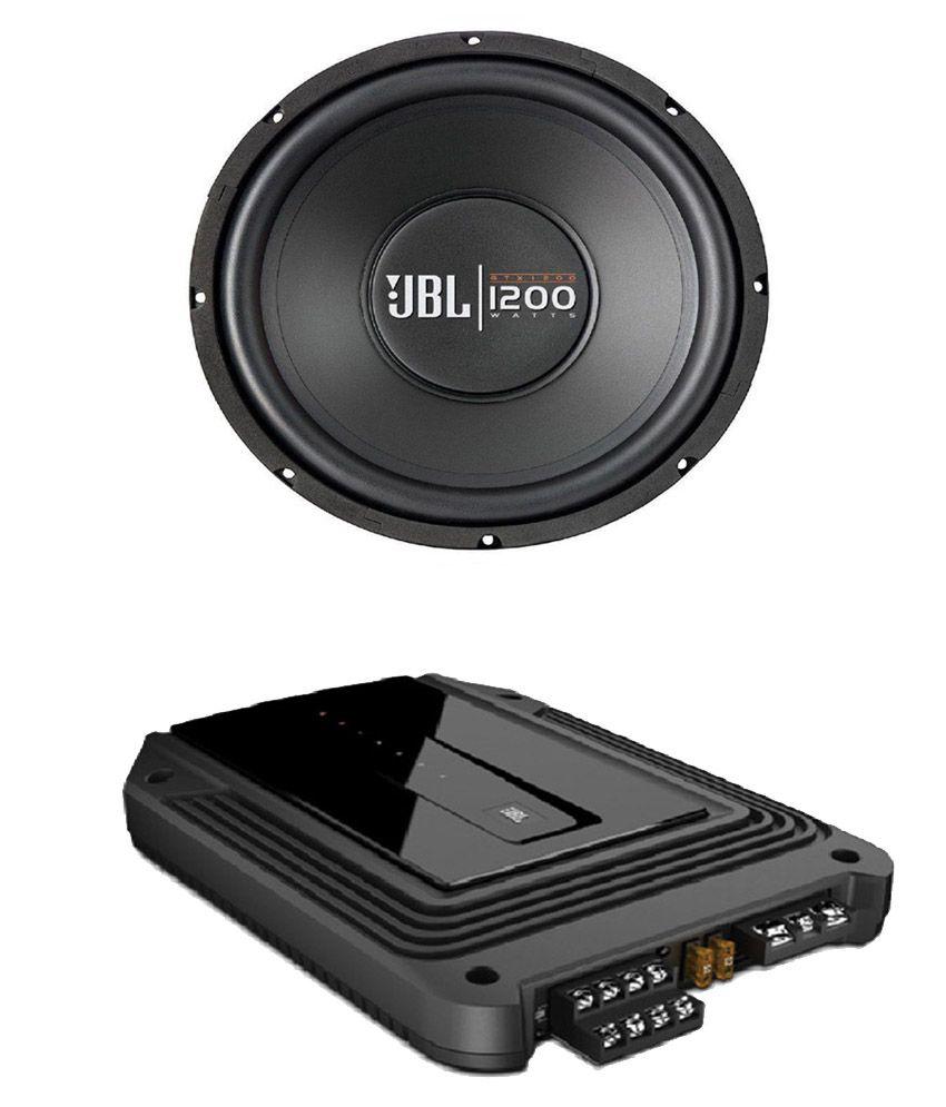 jbl 1200 watts car subwoofer with jbl gxa646si 4. Black Bedroom Furniture Sets. Home Design Ideas