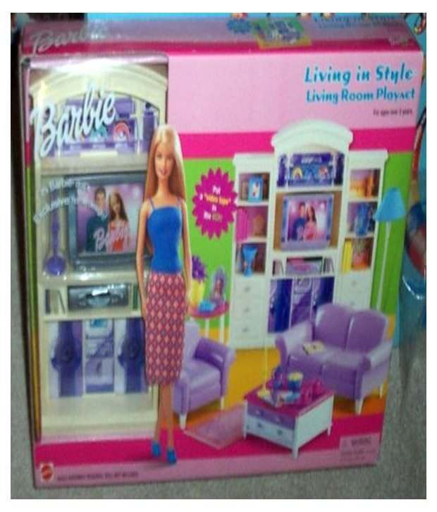 Mattel Barbie Living In Style Living Room Playset ...
