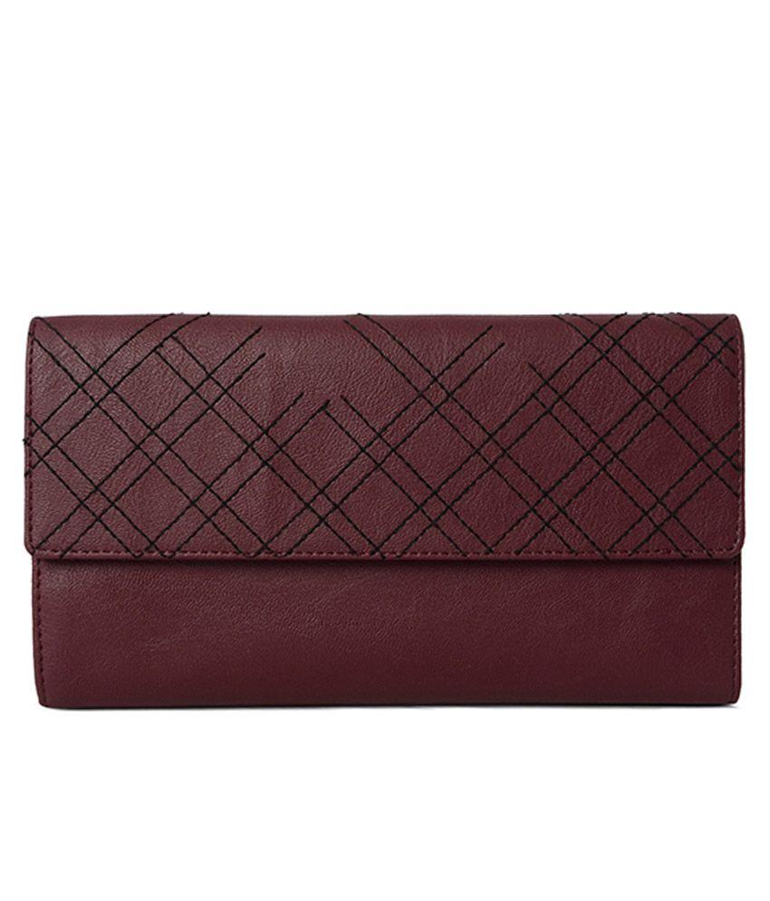 Baggit Lw Lopez Tarzen Maroon Tri Fold Wallet