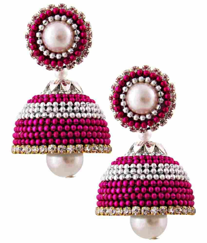 Jaipur Raga Multicolour Acrylic Jhumki Earrings