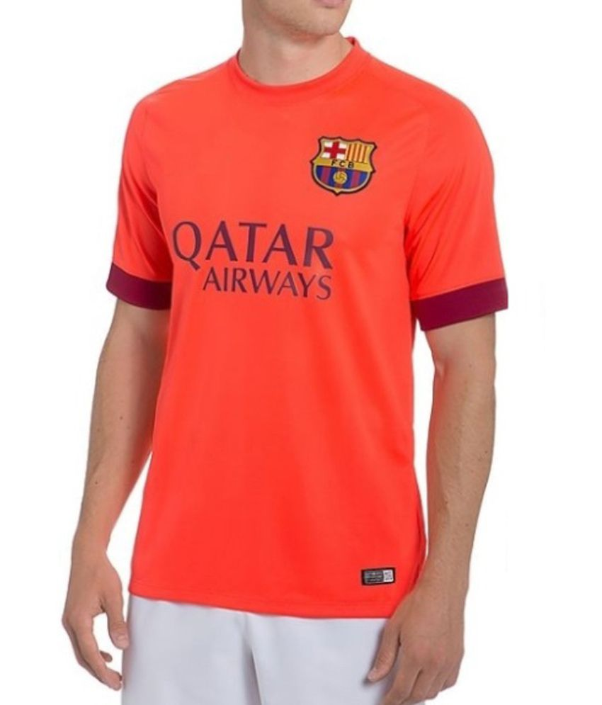 32f9cf7ac Navex Football Jersey Club Barcelona Orange Short Sleeve Ket  Buy Online at  Best Price on Snapdeal