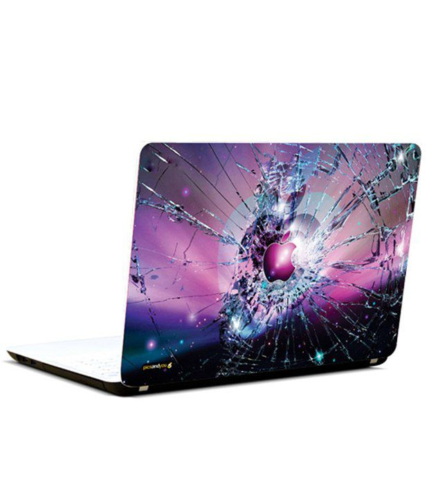 Pics And You Pics And You Apple Logo Shattered Laptop Skin