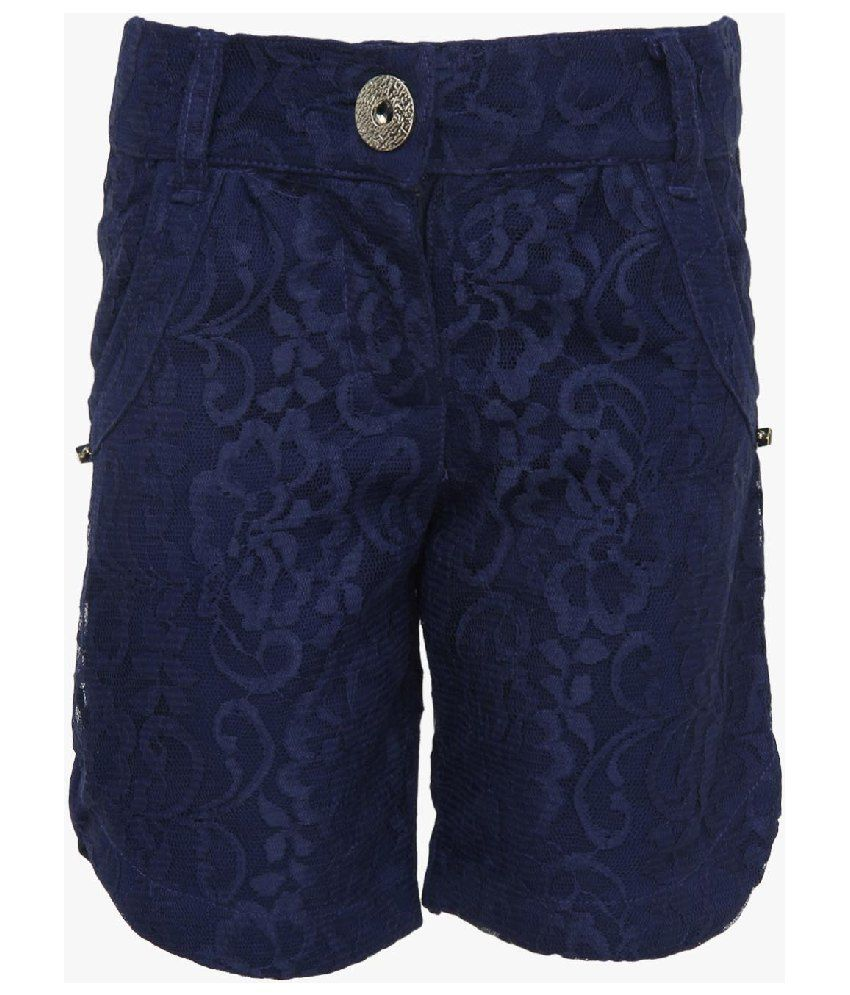 Cool Quotient Blue Cotton Shorts