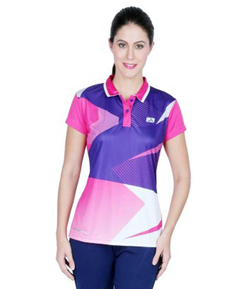 Vector X Printed Women's Polo Neck T-Shirt