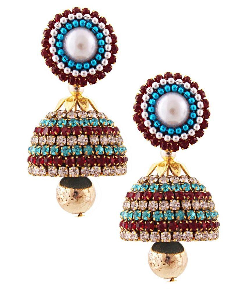 Tamira Multicolour Designer Jhumki Earrings