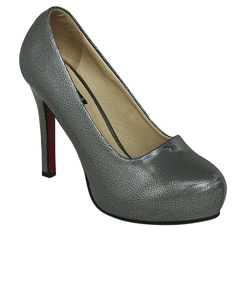 Get Glamr Gray Stiletto Heels