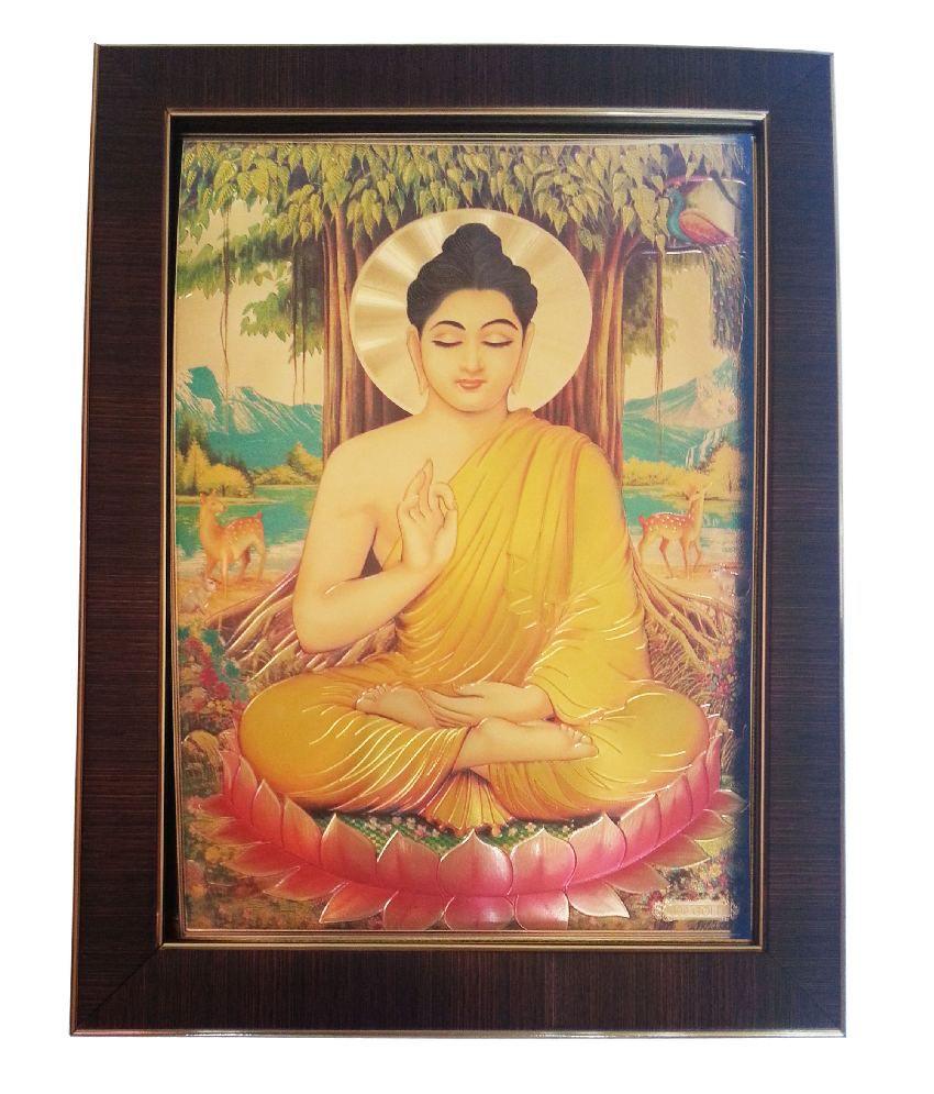 Shree Gold Art Yellow Ganesh Wall Hanging
