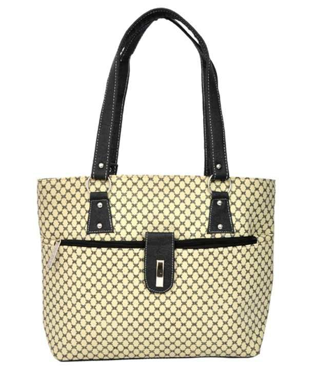 Fashion Spark Beige P.U. Tote Bag