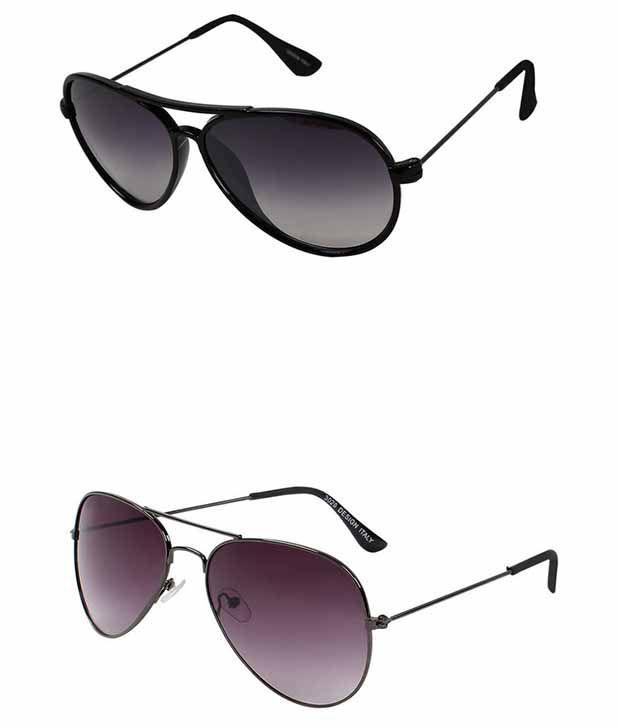 Selfieseven Black Oval Sunglasses