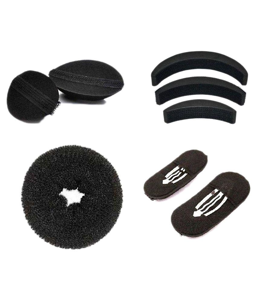 Out of Box Black Hair Accessories Set  - Pack of 8