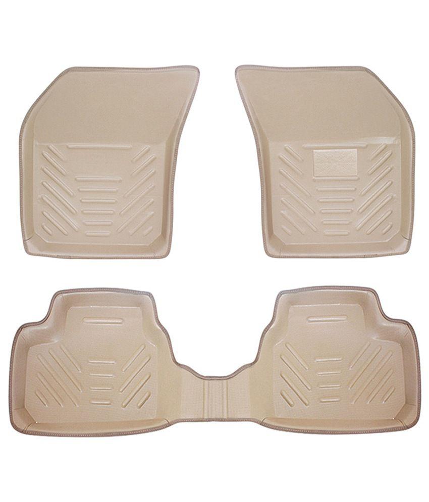 Speedwav perfect fit car 3d floor mats set of 4 beige - Look buying perfect doormat ...
