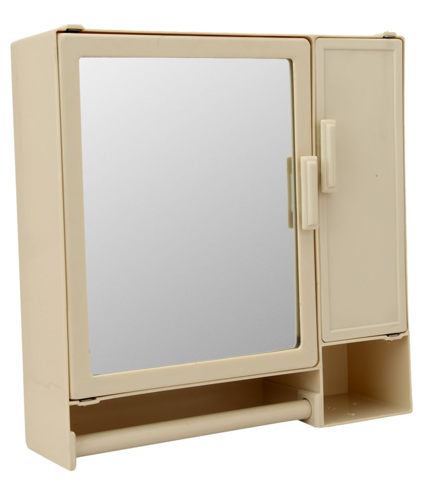 plastic bathroom cabinet buy zahab beige plastic mirror cabinet at low price 24776