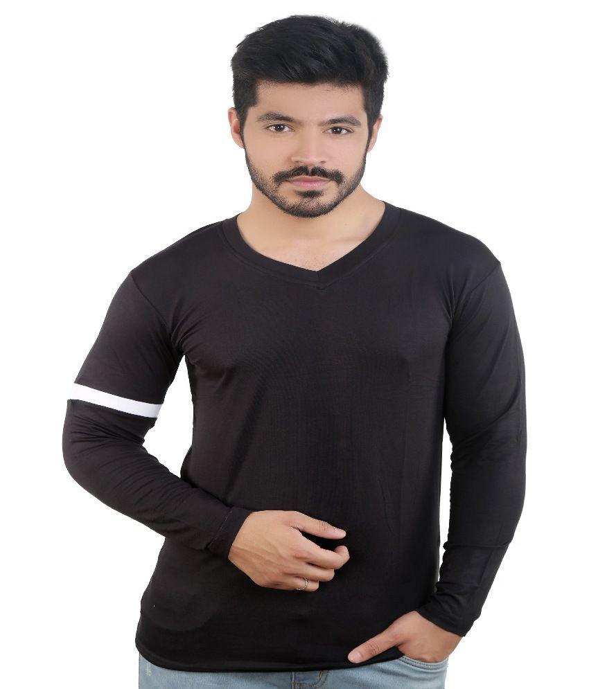 Amusant Black V Neck T Shirt
