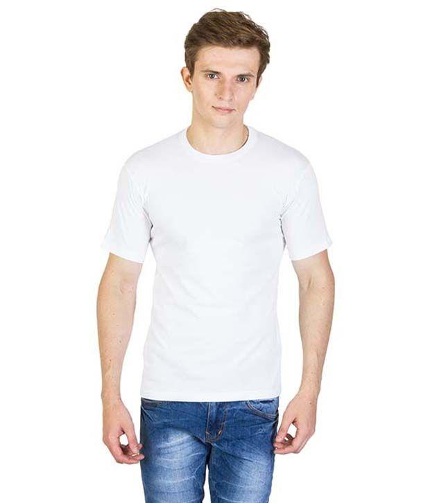 Mansway White Round T Shirt