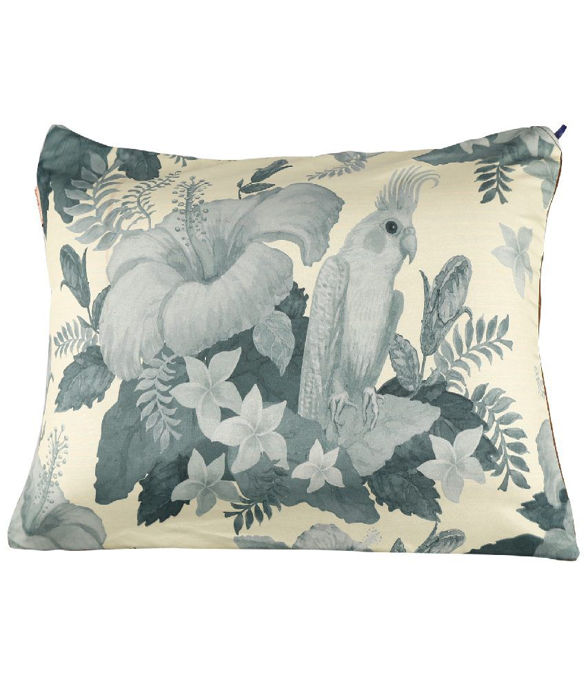 Nostaljia Beige & Grey Polyester Travel Pillow With Cover  available at snapdeal for Rs.462