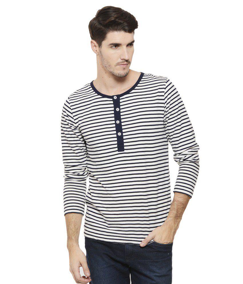 Rigo White Henley T Shirt