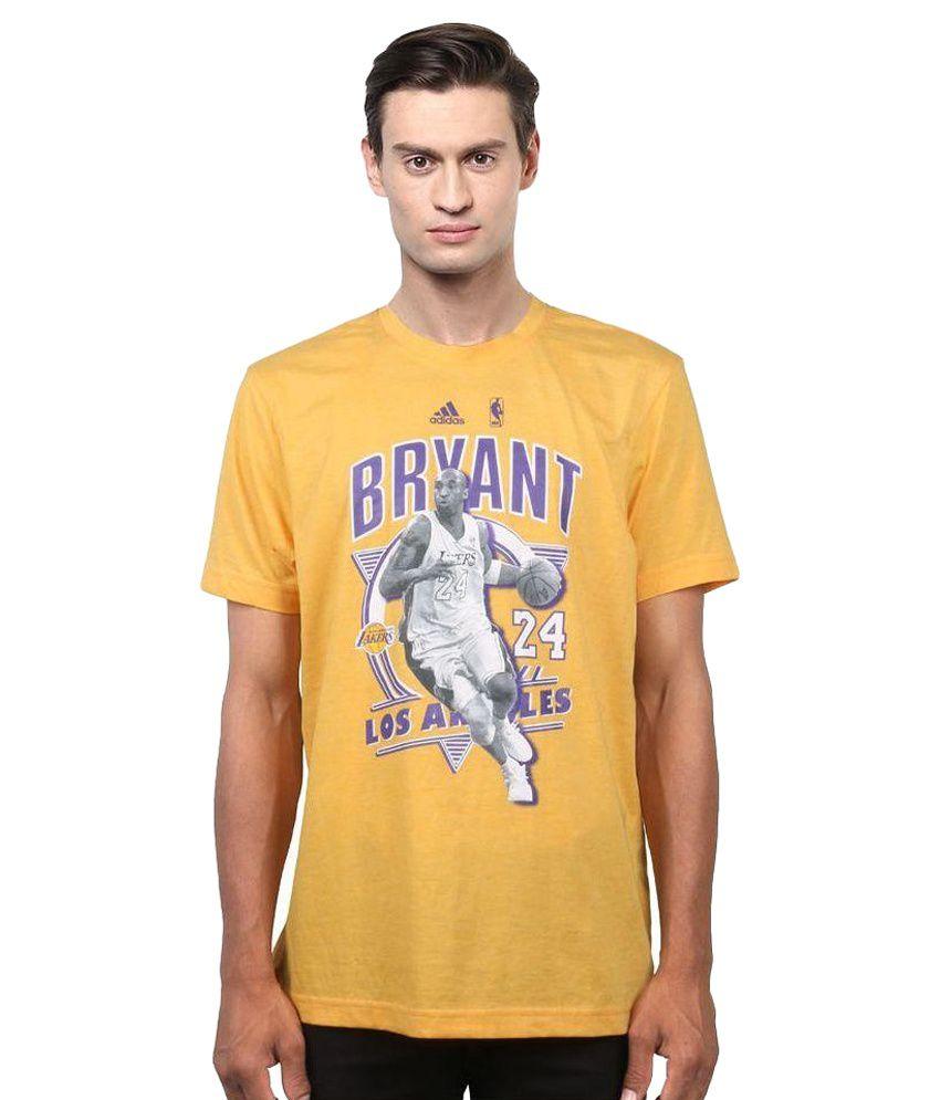 Adidas Yellow Round T Shirt