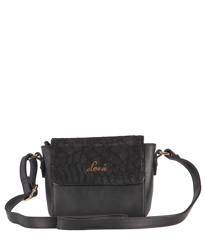 Lavie Black Synthetic Sling Bag