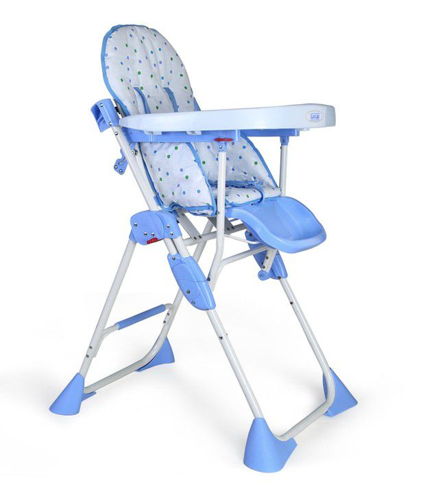 Luv Lap Baby High Chair Comfy Blue - 18115