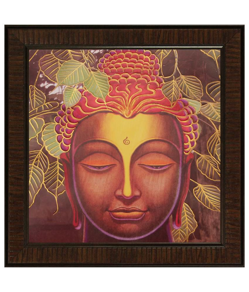 SAF Textured Wood Religious Painting with Frame