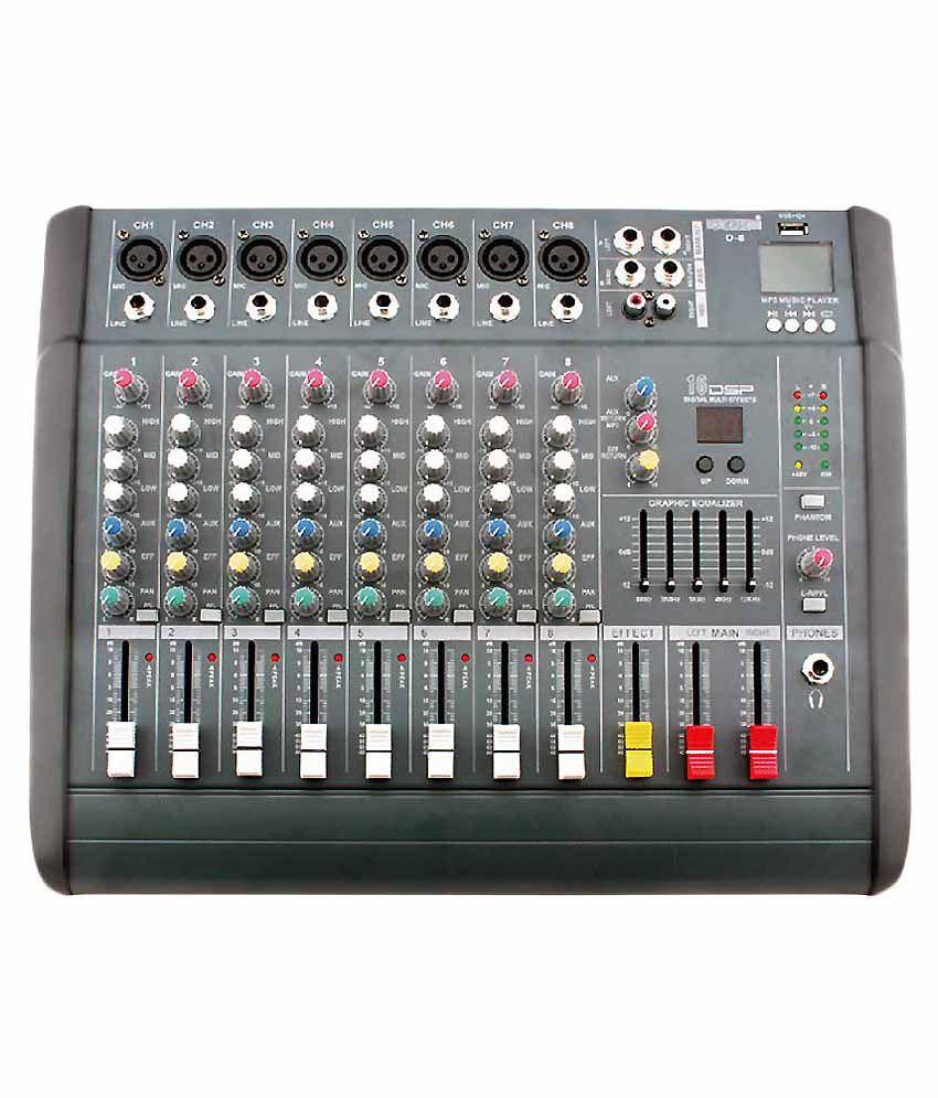 btl 8 channel power audio mixer with usb 150 watt inbuilt amplifier buy btl 8 channel power. Black Bedroom Furniture Sets. Home Design Ideas