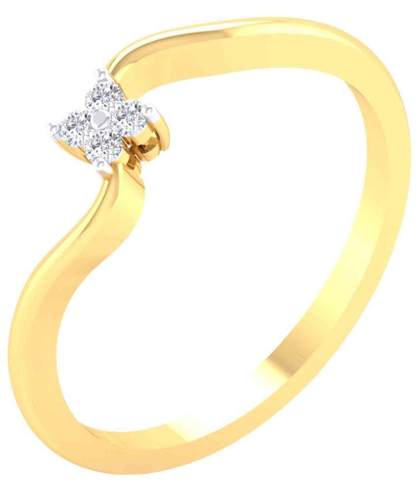 Cygnus 18k Yellow Gold Diamond Ring