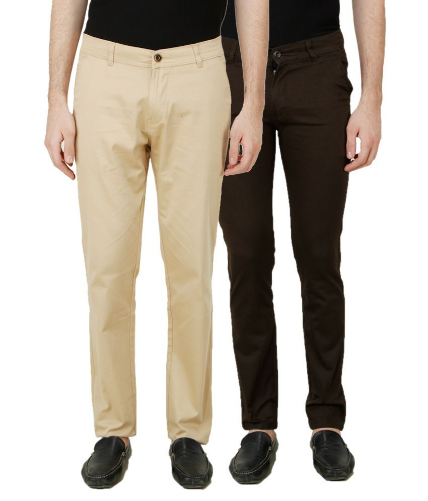 D-ROCK Multi Regular Fit Chinos Pack of 2