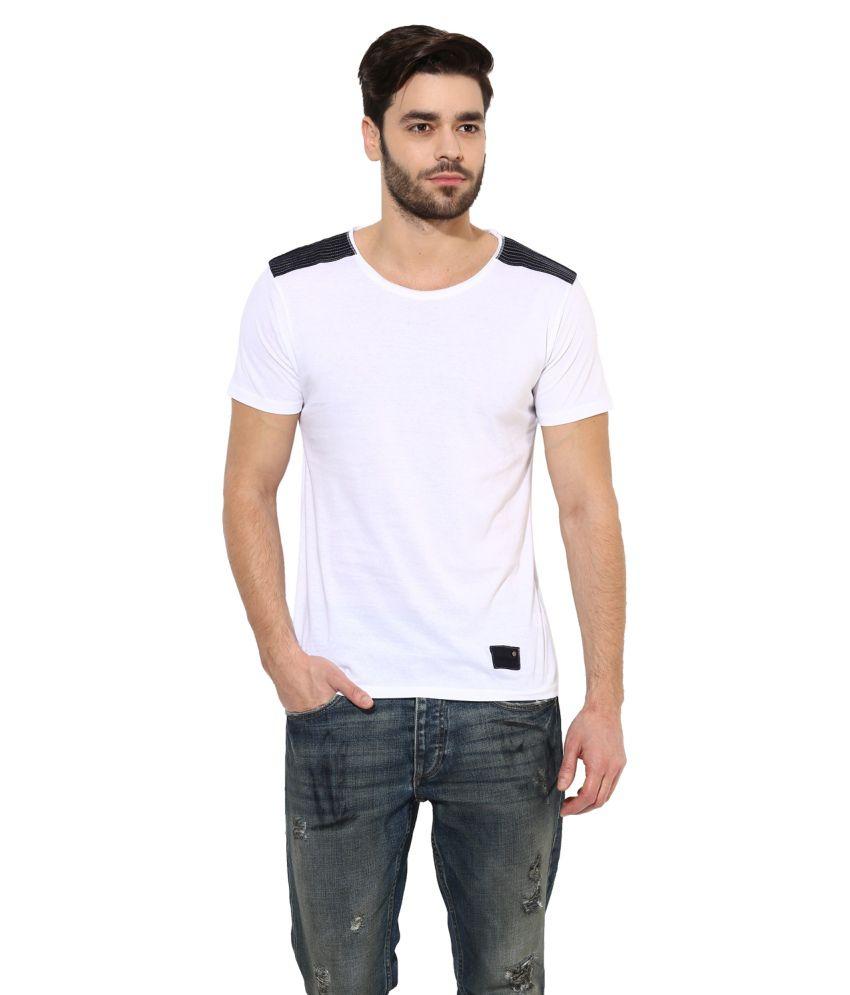 Monteil & Munero White Round T Shirt
