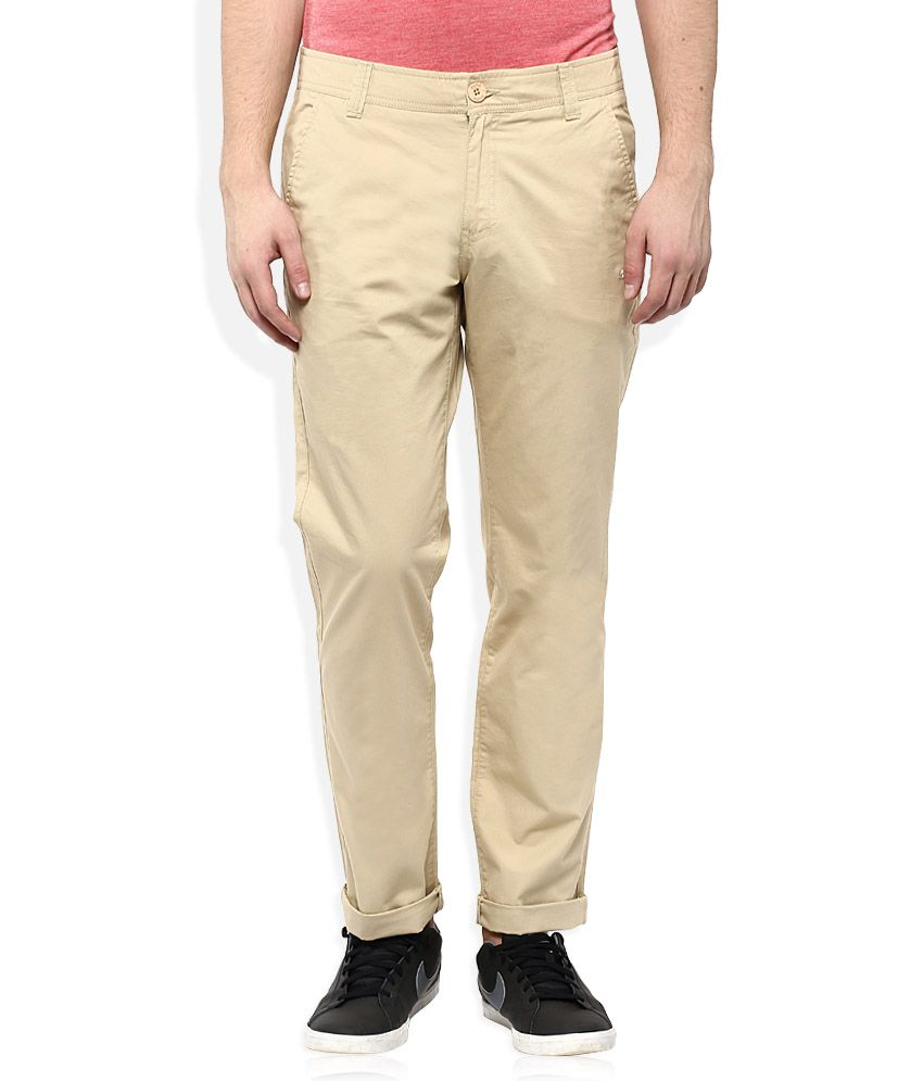 Puma Beige Regular Fit Flat Trousers