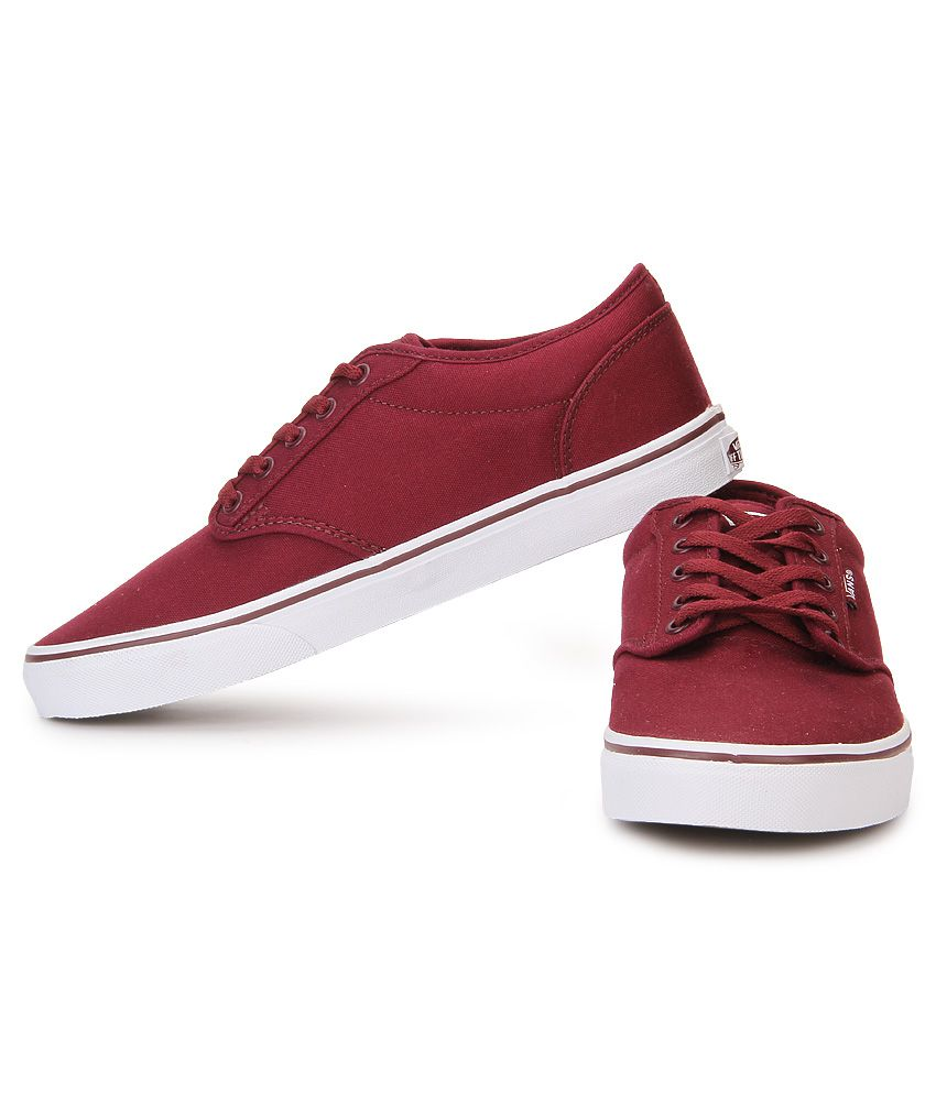 Vans Atwood Maroon Canvas Casual Shoes Vans