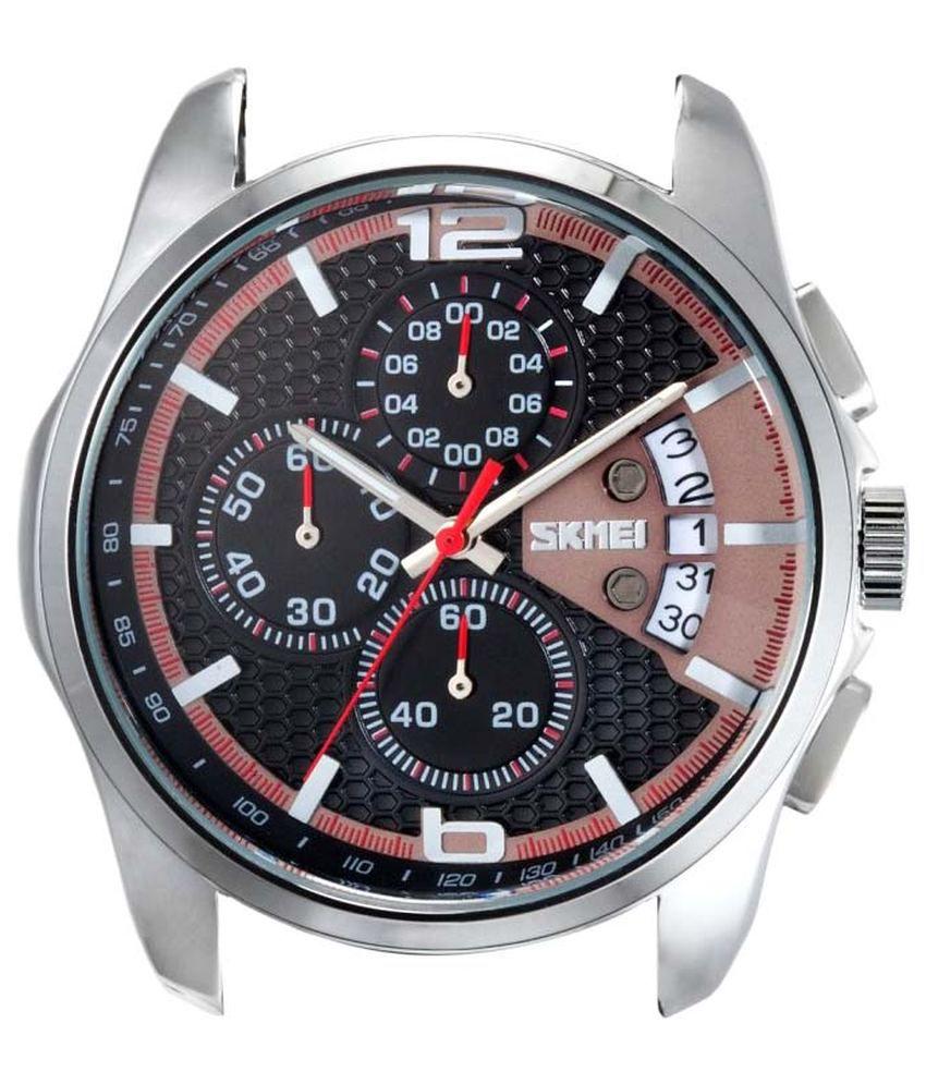 c32573509 Skmei Black Leather Analog-Chronograph Watch for Men - Buy Skmei ...