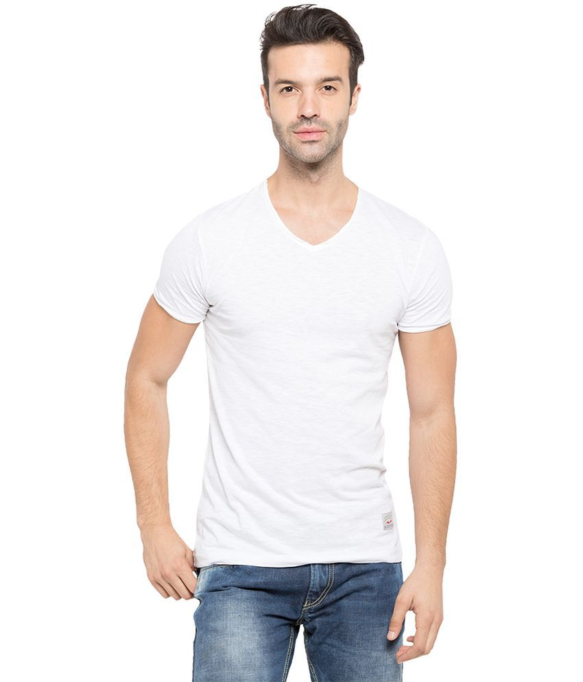 Status Quo White V-Neck T Shirt