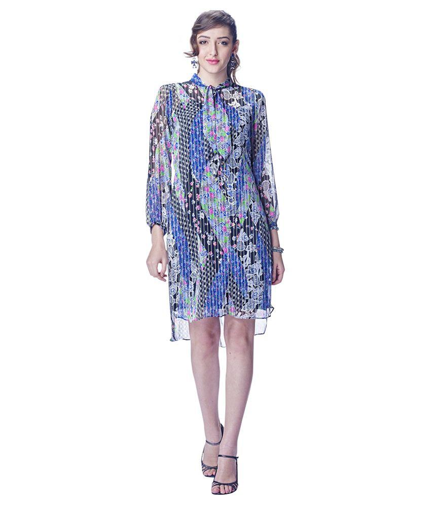 Varayu Multi Color Chiffon Dresses