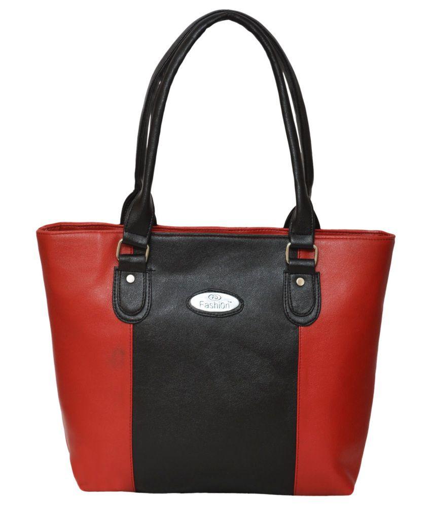 FDfashion Red P.U. Shoulder Bag