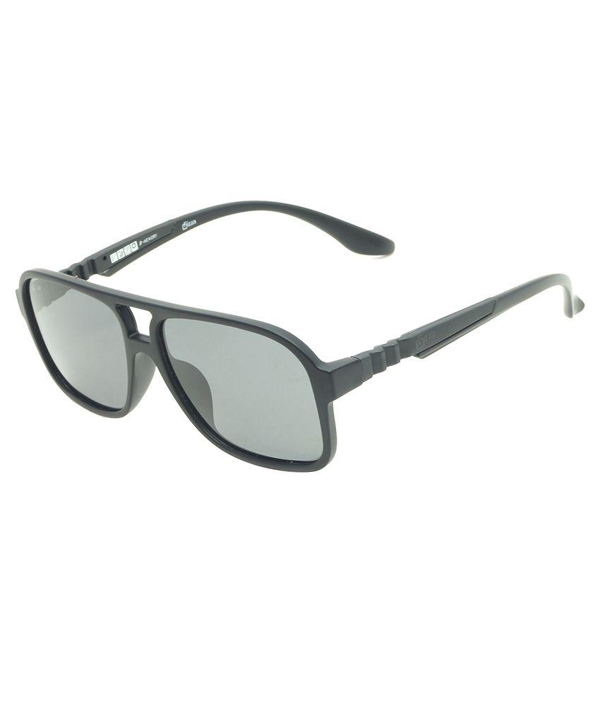 Fizan Black Square Sunglasses