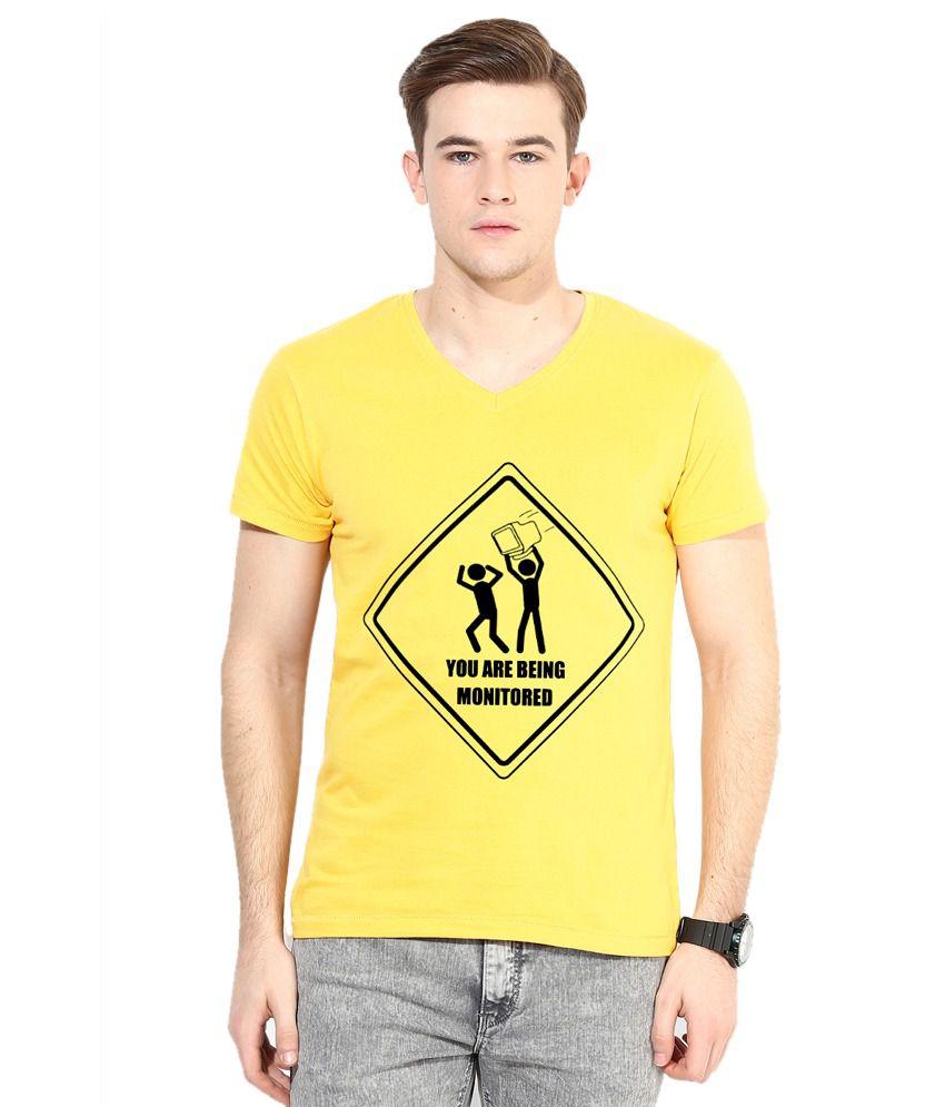 Mundus Vici Yellow V-Neck T Shirt