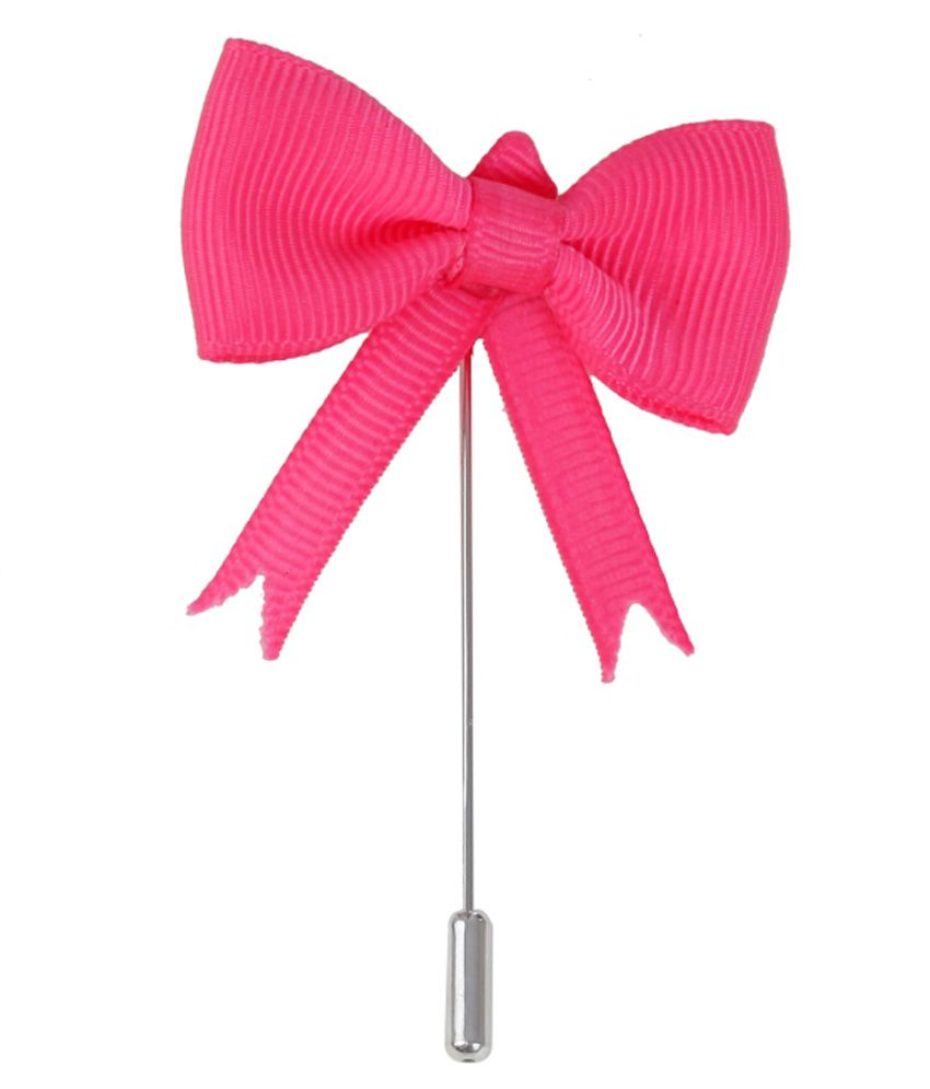 Outdazzle Pink Stainless Steel Bow Lapel Pin Pin