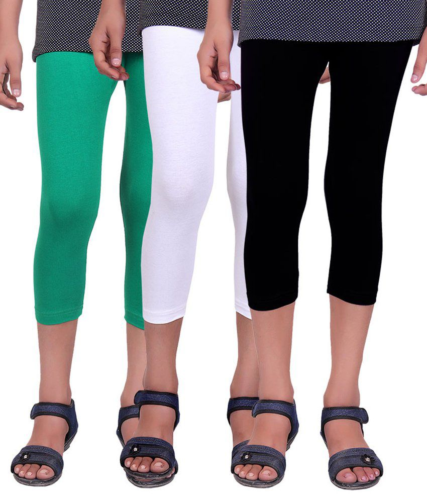 Alisha Multicolour Cotton Capris - Pack of 3