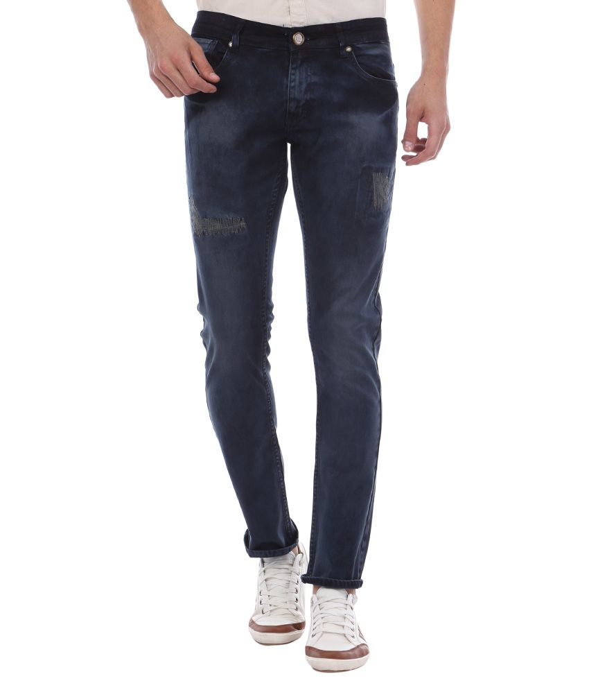 Bandit Navy Slim Fit Faded Jeans