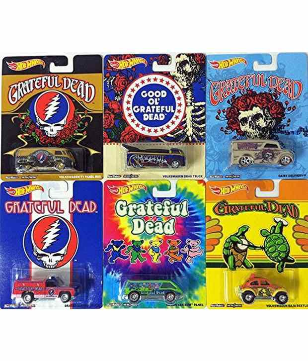 Hot Wheels Grateful Dead Rock Band 6 Car Set Pop Culture Dancing