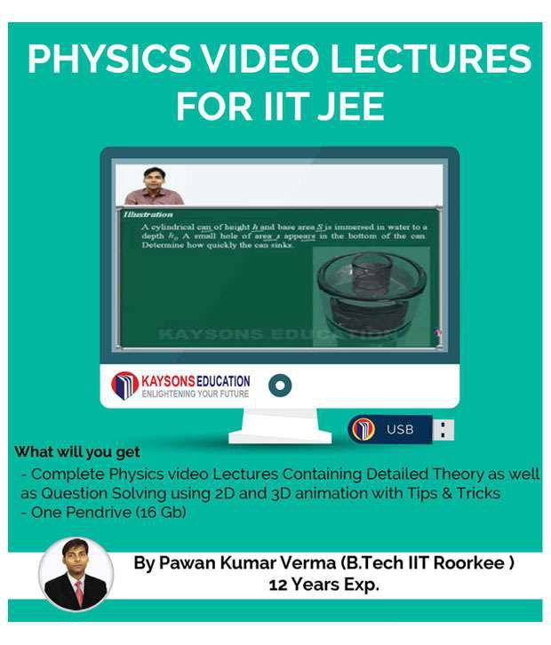IIT JEE Physics Preparation Material: Video Lectures for JEE Main and Advance Designed in Pendrive/Micro Sd Card By IITian