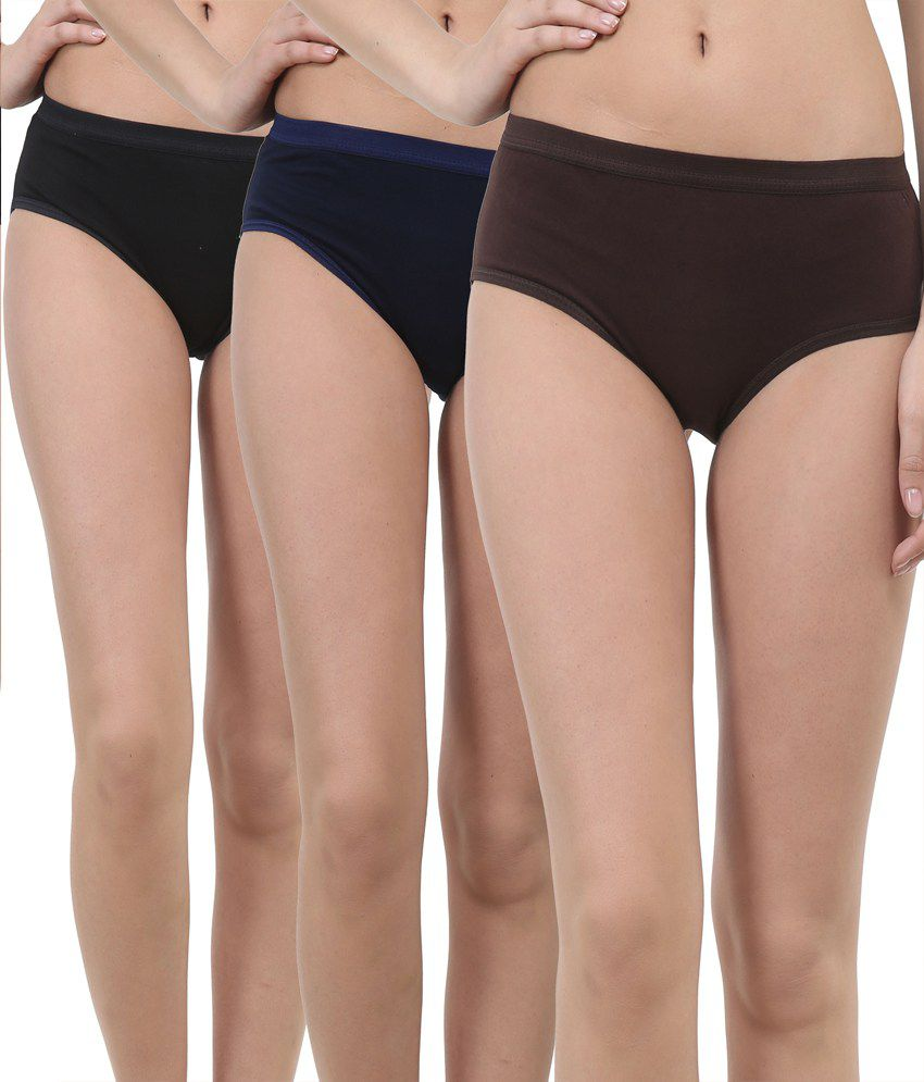 b4a93ab5ed0214 Buy Lure wear Multi Color Cotton Panties Pack of 3 Online at Best Prices in  India - Snapdeal
