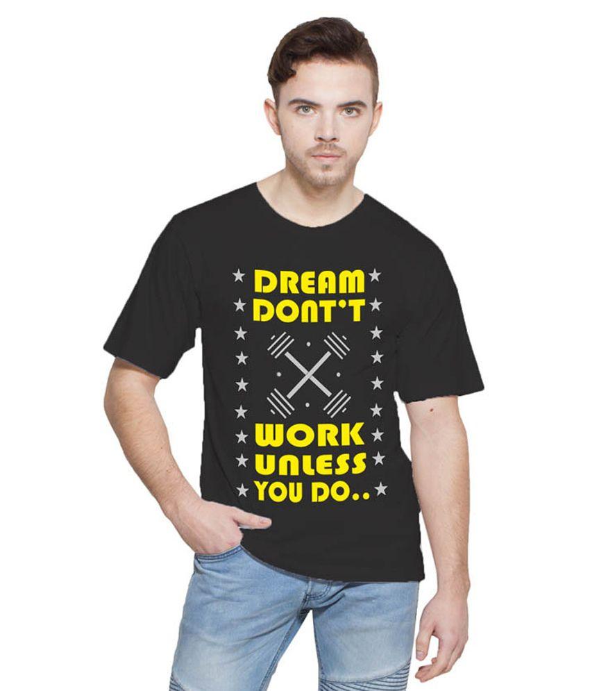 Printing Geeks Black Round T Shirt